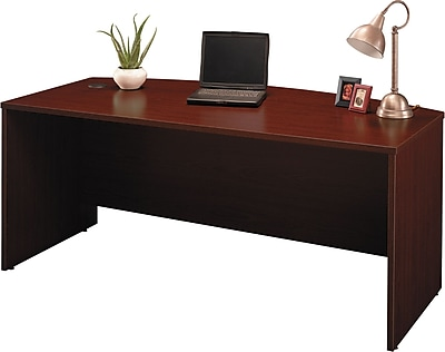 Bush Business Westfield 72W Bow Front Desk Shell, Cherry Mahogany