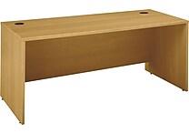 Bush Business Westfield 72W x 30D Desk Shell, Danish Oak