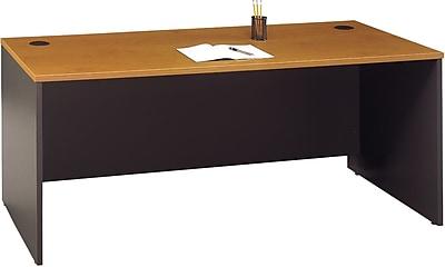 Bush Business Furniture Westfield 72W x 30D Office Desk, Natural Cherry/Graphite Gray (WC72436)