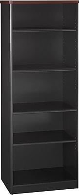 Bush® OfficePro Cherry Collection, Bookcase, 5-Shelf