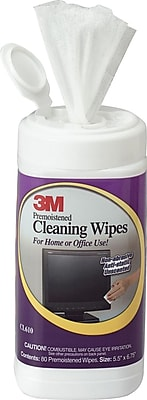3M™ Electronic Equipment Antistatic Cleaning Wipes, 80 Wipes, 80 Wipes/Can