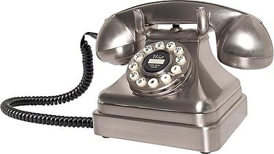 Crosley Kettle CR62 Classic Desk Phone, Chrome