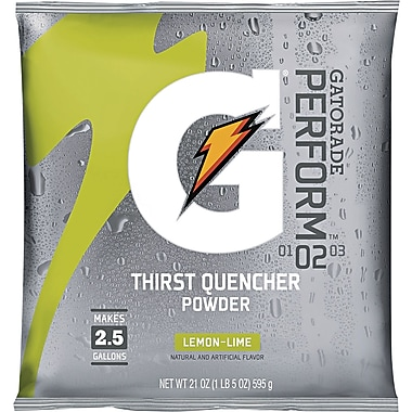 Gatorade® 2 1/2 gal Yield Instant Powder Dry Mix Energy Drink, 21 oz Pack, Lemon-Lime