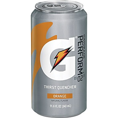 Gatorade® Liquid Concentrate Ready-To-Drink Energy Drink, 11.6 oz Can, Orange