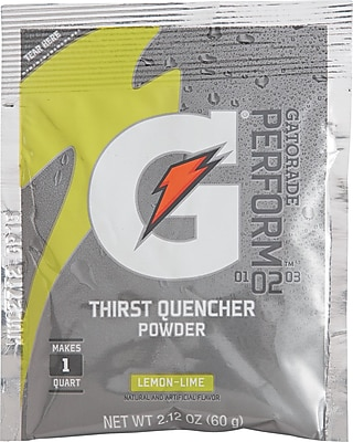 Gatorade® 1 qt Yield Powder Dry Mix Energy Drink, 2.12 oz. Pack, Lemon-Lime