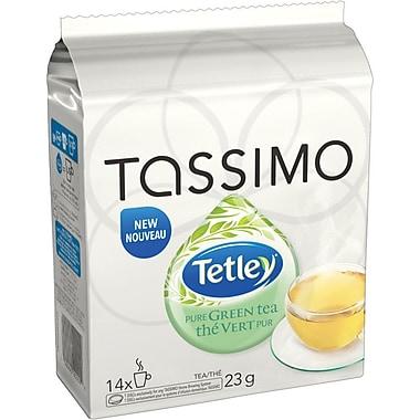 Tassimo - Thé vert pur Tetley, recharges T-Disc, paq./14