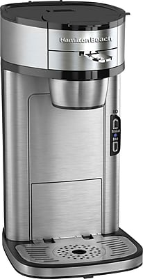 Hamilton Beach The Scoop Single-Cup Coffee Maker, Stainless Steel 101901
