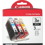 Canon Inkjet Cartridge, BCI 3e, Color, 3/Pack