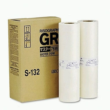 Risograph Black Master Roll (S-132), 2/Pack