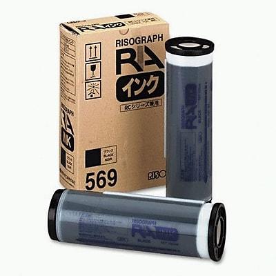 Risograph Black Ink Cartridge (S-569), High Yield 2/Pack