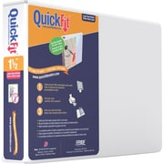 Stride Quick Fit Landscape 1.5-Inch Round 3-Ring Binder, White (97120)