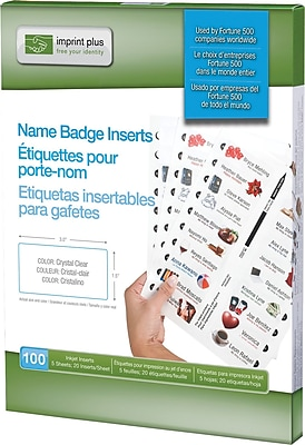 The Mighty Badge Insert Sheet Pack for Laser Printers, Clear, 1