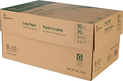 Sustainable Earth by Staples Sugarcane-based Copy Paper, 8 1/2