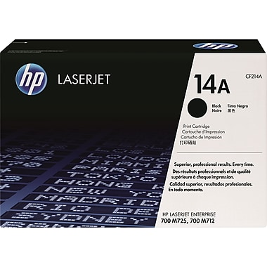HP - Cartouche de toner noir d'origine LaserJet 14A (CF214A)