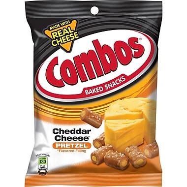 Combos® Cheddar Cheese Pretzels, 6.3 oz. Bags, 12 Bags/Box
