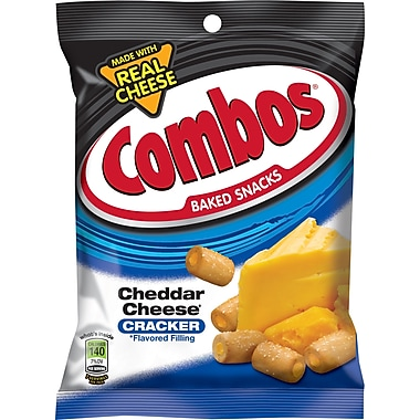 Combos® Cheddar Cheese Crackers, 6.3 oz. Bags, 12 Bags/Box