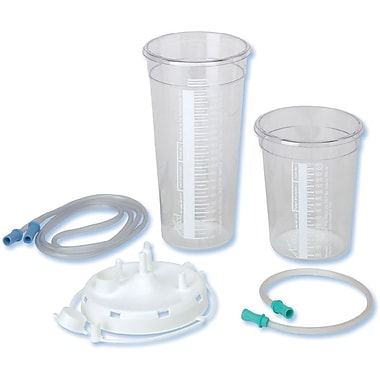 Allied Healthcare Products Suction Canisters with Disc Lid, 36/Pack