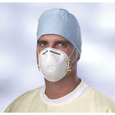 Medline N95 Cone-Style Regular Particulate Respirator Masks, White, 240/Pack
