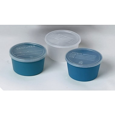 Medline Denture Containers, Clear, 250/Pack