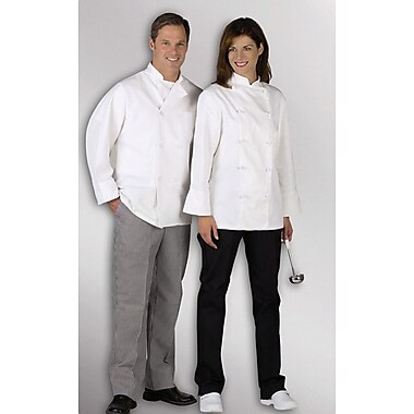 Medline Pearl Button Chef Coats, White, XL