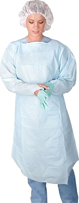 Medline Regular/Large Thumb Loop Style Isolation Gowns, Blue (CRI5000)