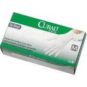 "Curad® Powder-Free Latex-free 3G Vinyl Exam Gloves, White, Small, 9"" L, 1000/Pack"