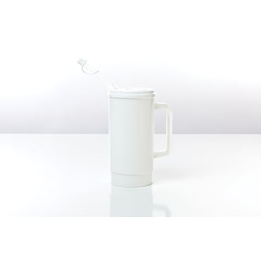Medline Insulated Carafes, White, 32 oz, 48/Pack