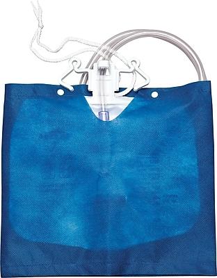 Medline Low-bed Drain Bag Covers, Blue, 20/Pack