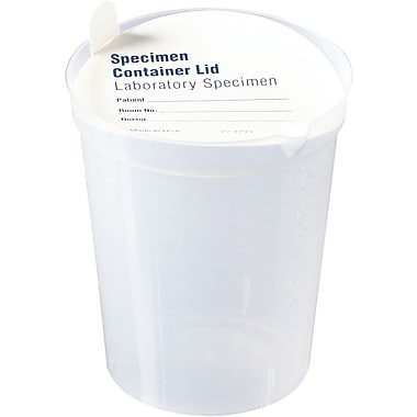 Medline Non-sterile Urinalysis Containers with Lid, 6 oz Size, Polystyrene, 500/Pack