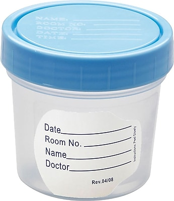 Medline Basic Sterile Fluid Path Specimen Containers, 4 oz Size, 100/Pack