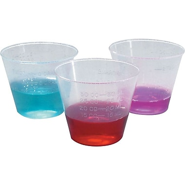 Medline DYND80000 Non-sterile Graduated Plastic Medicine Cups 1 oz.