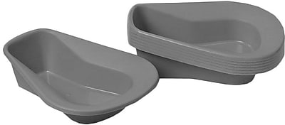 Medline Stack a Pan Bedpan, Translucent Pigment Free, 14