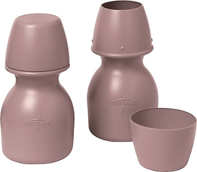 Medline Carafes with Cup, Mauve, 32 oz, 20/Pack 110226
