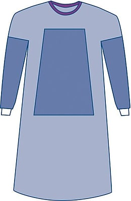 Medline Large Sterile Fabric-Reinforced Eclipse Surgical Gowns, Blue (DYNJP2101)