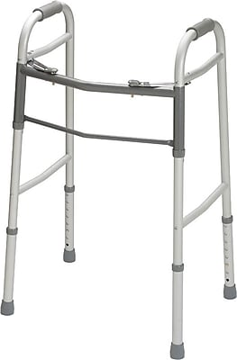 Guardian Signature™ Easy Care® Folding Walker without Wheels, Junior, 27