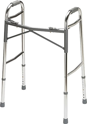 Guardian Signature™ Heavy-duty Basic Folding Walker, Adult Bariatric, 32 1/2