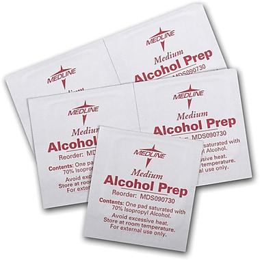Medline Sterile Alcohol Prep Pads, Medium, Bulk, 3000/Pack