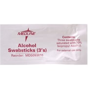 Medline Alcohol Swabsticks, 250/Pack