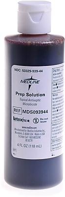 Medline Povidone Iodine Prep Solutions, 1 gal, 1%, 4/Pack