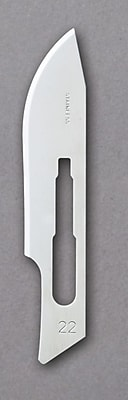 Medline Stainless-Steel Blades, #22 Size, Stainless Steel