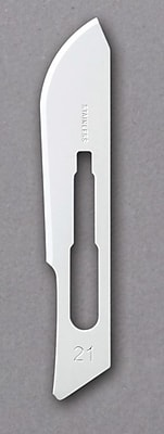 Medline Stainless-Steel Blades, #21 Size, Stainless Steel