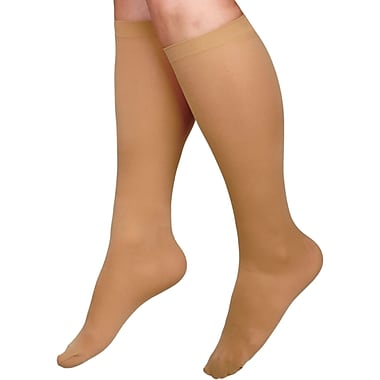 Curad® 15-20mmHg Knee High Cushioned Compression Socks, Black, D Size, Short Length, Each
