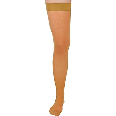Curad® 20-30mmHg Thigh High Compression Hosiery, Black, D Size, Regular Length, Each