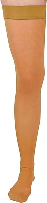Curad® 20-30mmHg Thigh High Compression Hosiery, Beige, D Size, Regular Length, Each