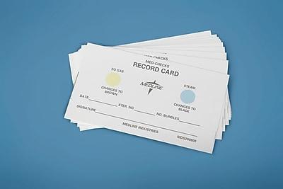 Medline Instrument Sterilization Record Load Cards, 3 1/2