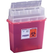 Kendall Biohazard Patient Room Sharps Containers, 5 qt, 20/Pack