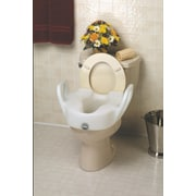 "Medline Hinged Elevated Standard Toilet Seats, 4"" H Seat"
