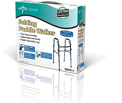 Medline Folding Paddle Walker with 5