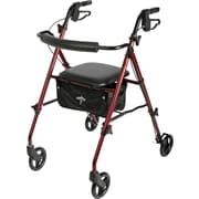 Guardian Freedom Ultralight Rollator, Burgundy, Each