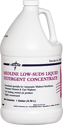 Medline Surgical Instruments Low Suds Detergents, 5 gal Size